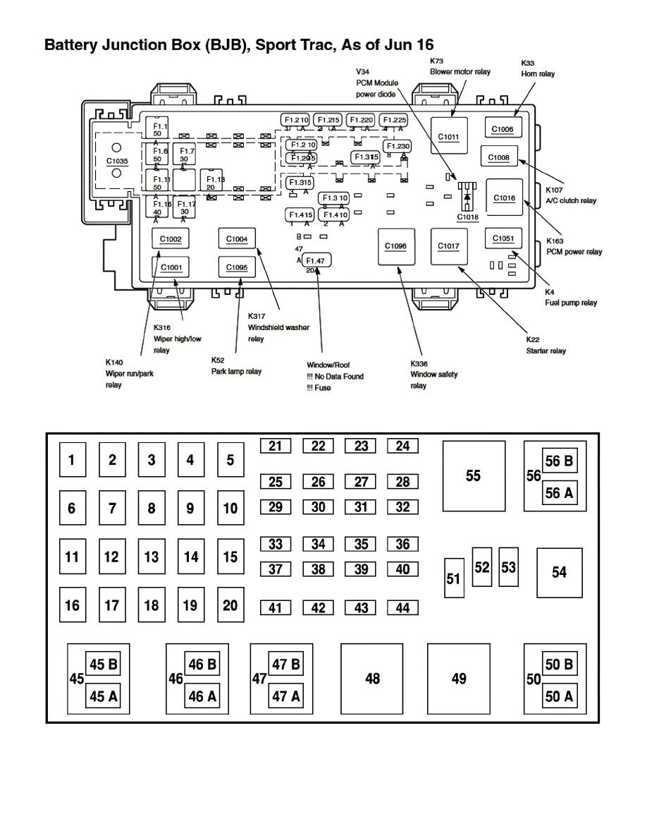 2002 ford explorer xlt fuse diagram wiring diagram paper 2002 ford explorer xlt fuse box layout 2002 ford explorer sport fuse box diagram
