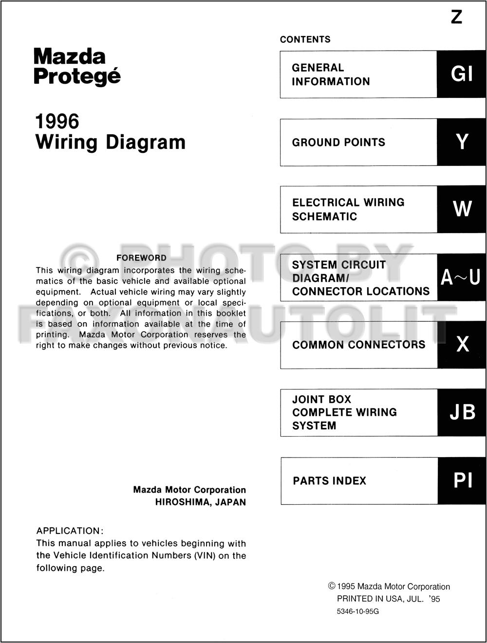 2002 Mazda Protege Radio Wiring Diagram 1996 Mazda Protege Wiring Diagram Wiring Diagram sort