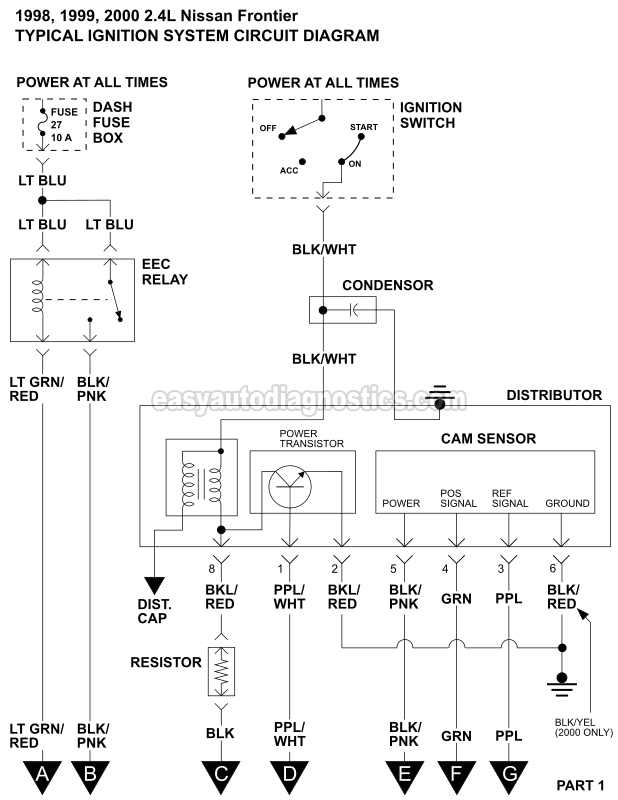 ignition system wiring diagram 1998 2000 2 4l nissan frontier 2000 nissan frontier speaker wiring diagram 2000 nissan frontier wiring