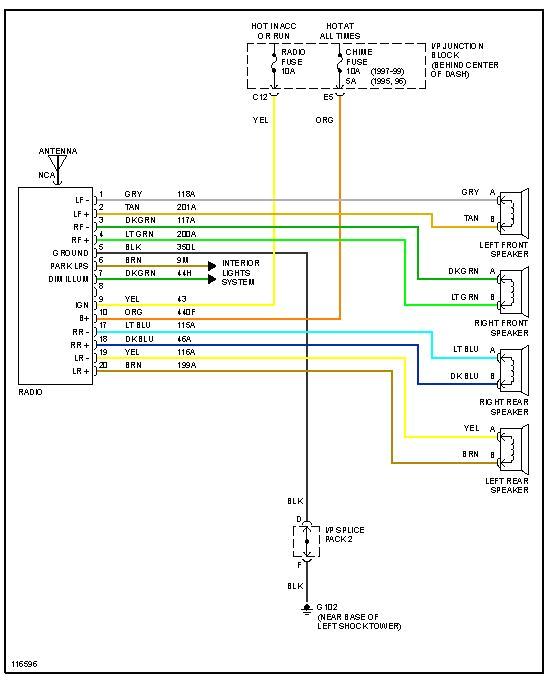 2002 Saturn Sl1 Radio Wiring Diagram Saturn Stereo Wiring Diagram Wiring Diagram Autovehicle