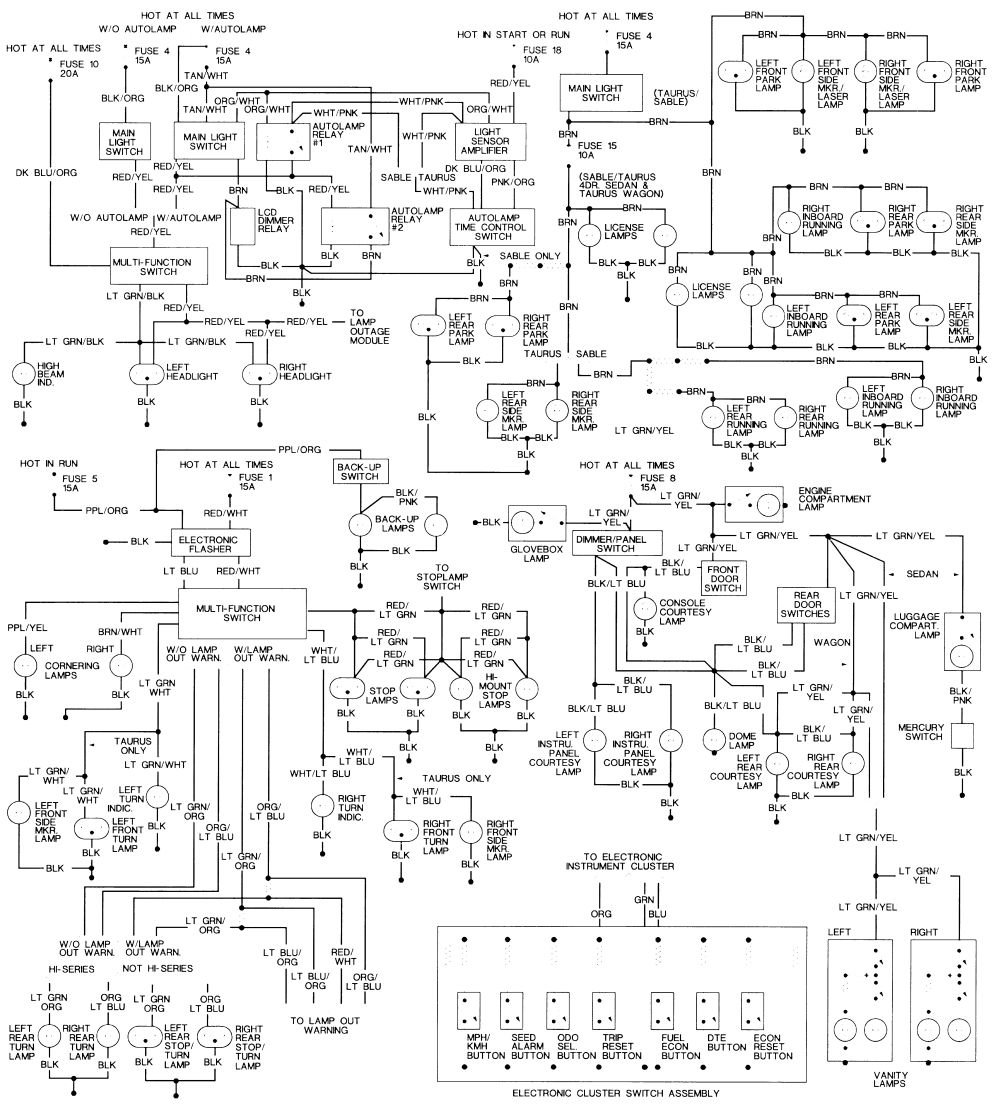 93 taurus wiring diagram wiring diagram name ford taurus headlight wiring diagram 93 taurus wiring diagram