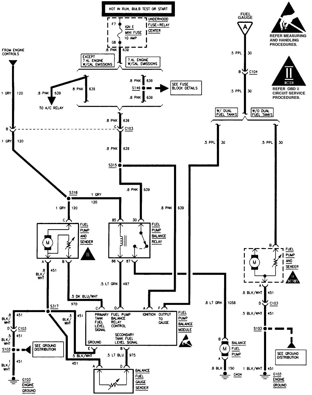 diagram chevrolet truck fuel pump wiring diagram
