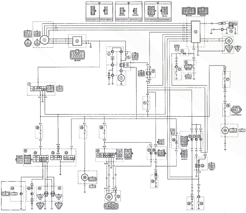 2003 yamaha kodiak 400 wiring diagram elegant wiring diagram for yamaha kodiak 400 atv basic wiring