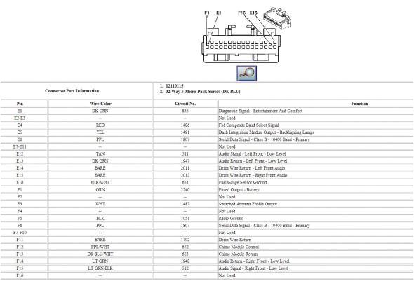 2002 cadillac deville radio wiring diagram