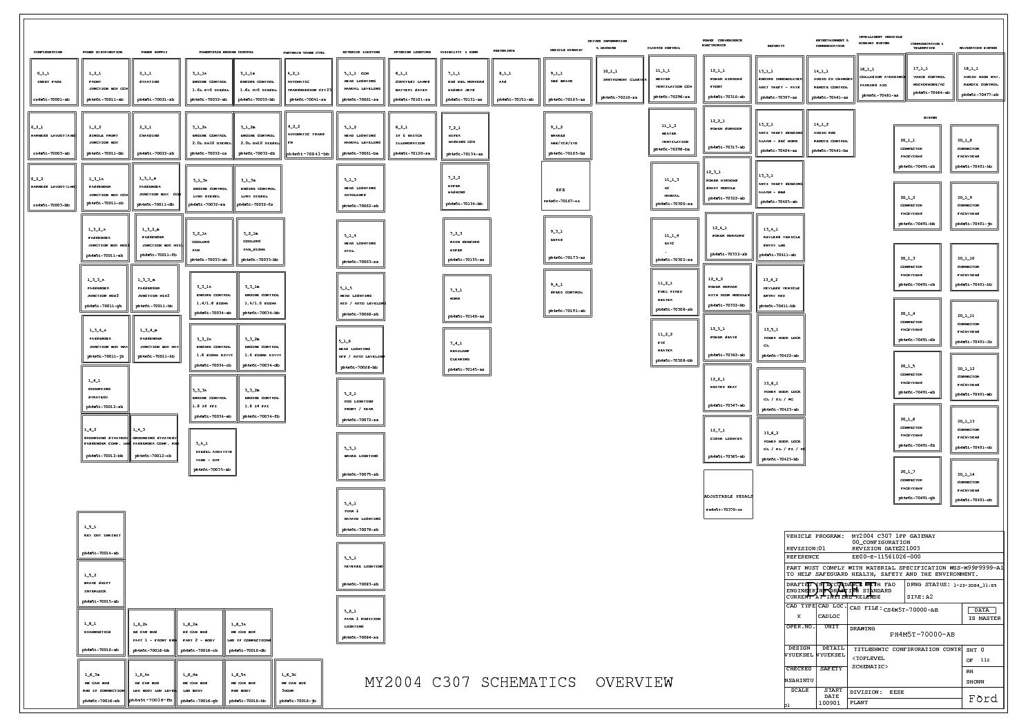 ford focus mk1 wiring diagram service manual