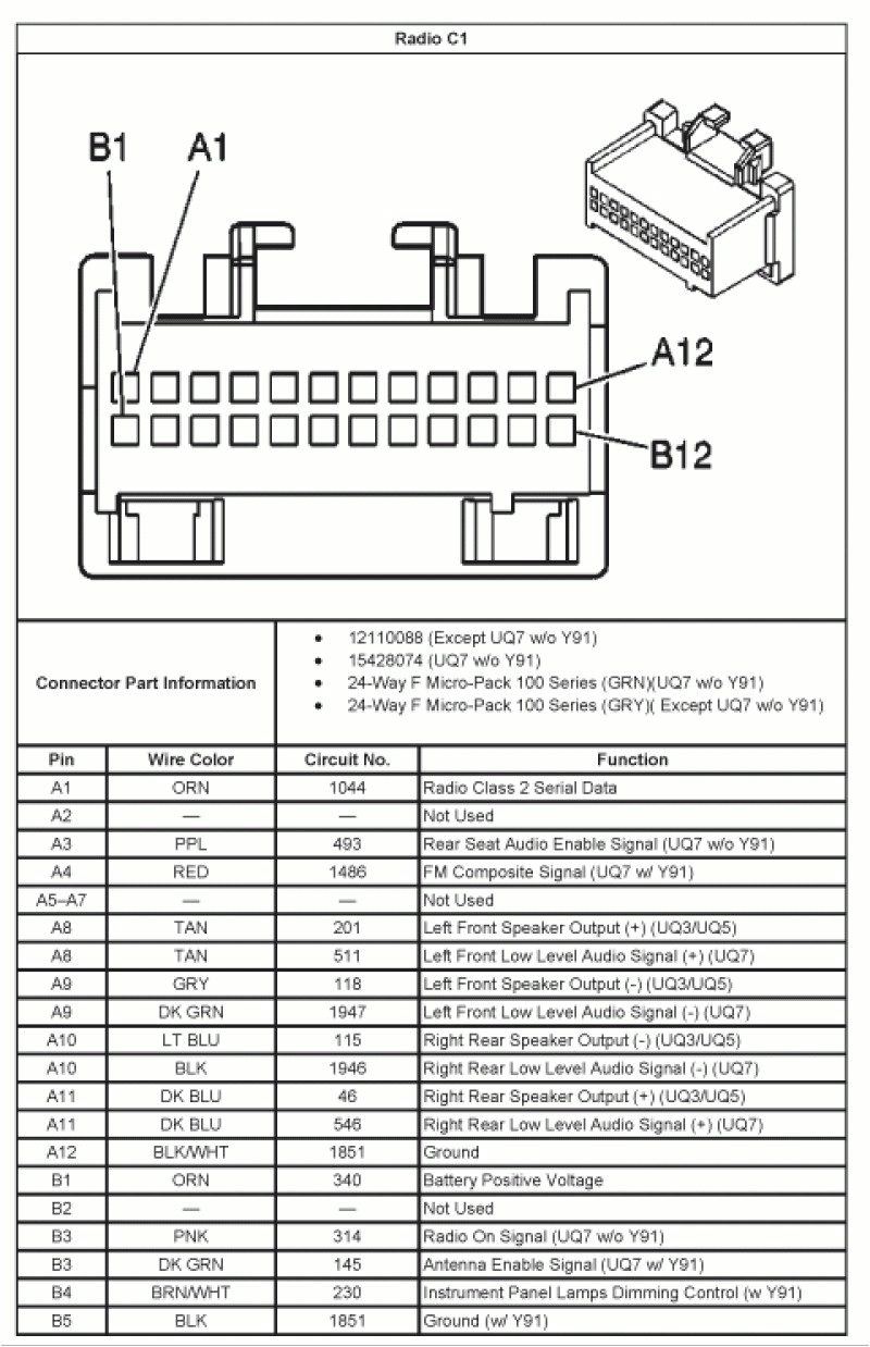 2005 Chevy Impala Radio Wiring Harness Diagram 2005 Impala Wiring Diagram Wiring Diagram Expert