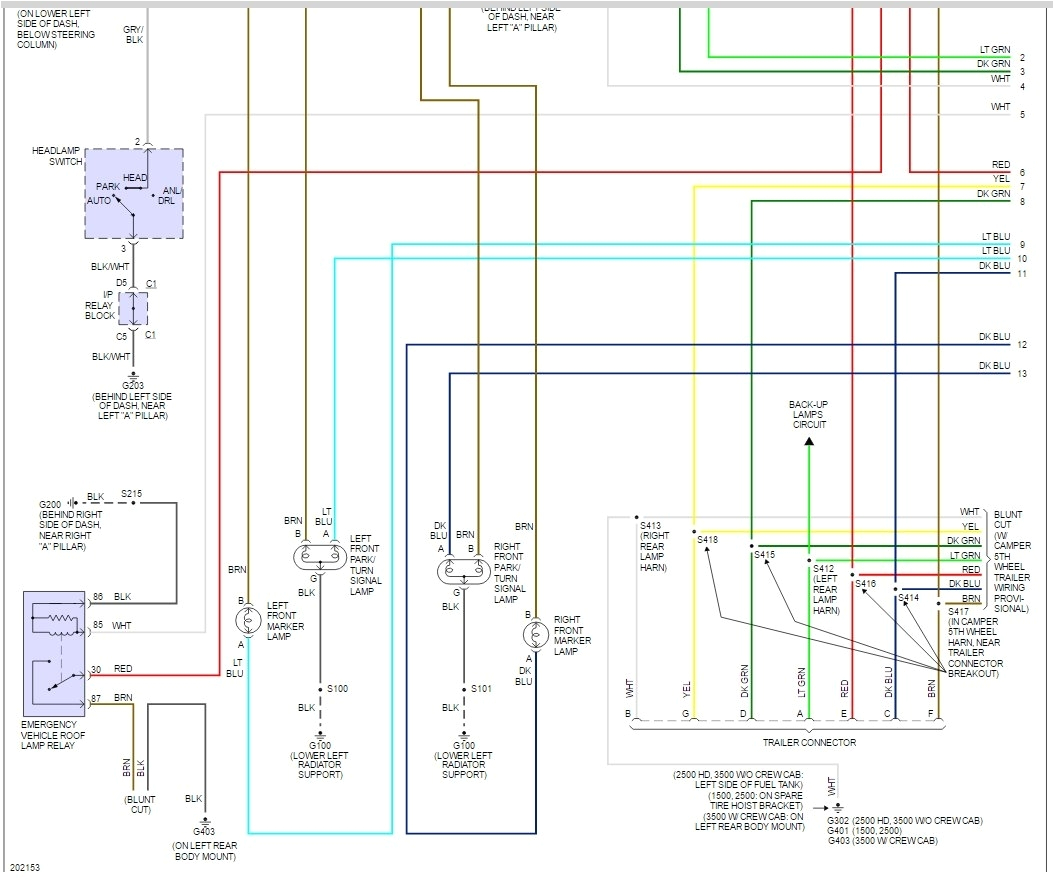 brake lights not working electrical problem v8 two wheel drive 2005 chevy silverado 3500 wiring diagram