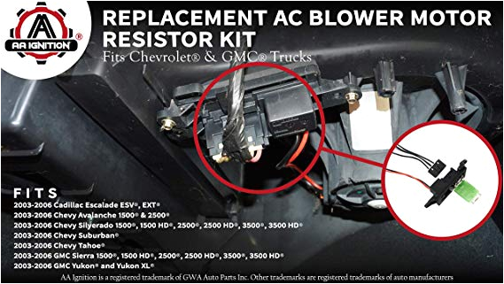 amazon com ac blower motor resistor kit with harness replaces 89019088 973 405 15 81086 22807123 fits chevy silverado tahoe suburban avalanche