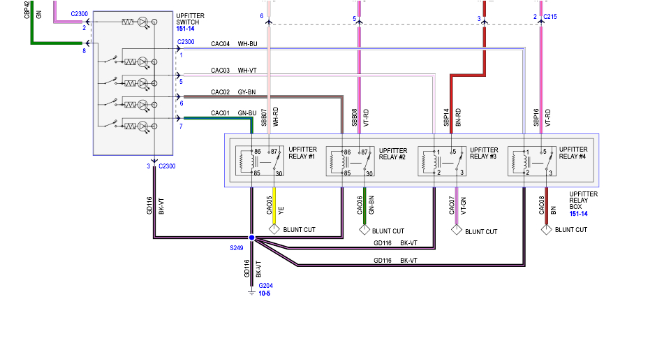 2008 ford Upfitter Switches Wiring Diagram 06 ford F 250 Factory Switch Wiring Wiring Diagram Schema