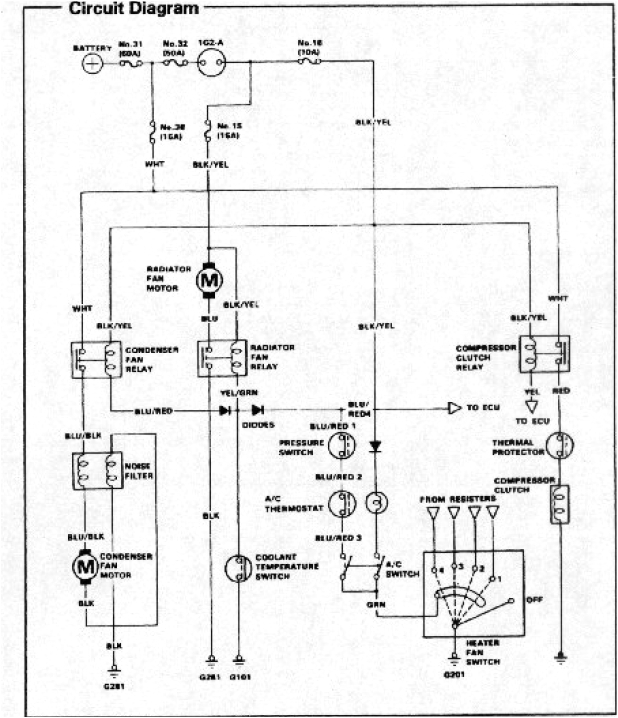 harness diagram 94 honda accord air conditioner likewise honda civic honda ac wiring diagrams
