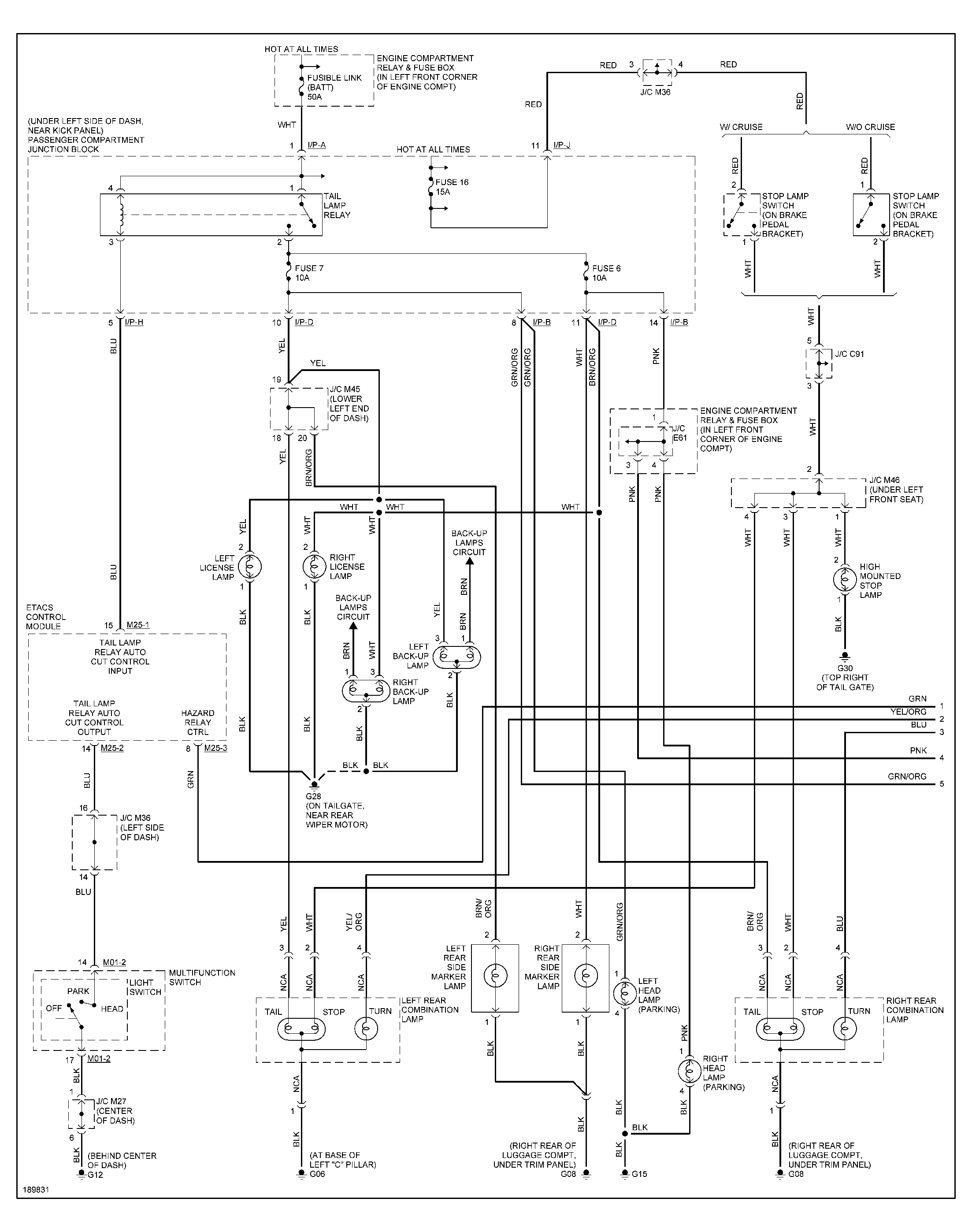 i need a diagram of the wiring harness from the head light switch toelantra wiring diagrams