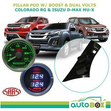 colorado d max mu x 2012 16 pillar pod w black diesel boost dual volts gauge fits holden colorado 2015
