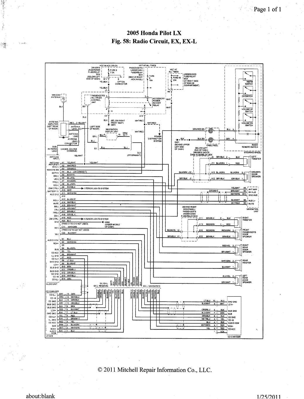 2005 honda pilot ex l ex radio wiring diagram
