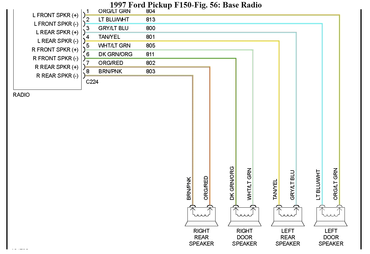 2016 ford F150 Radio Wiring Diagram F150 Radio Wiring Diagram ford F 150 Wiring Diagram Part