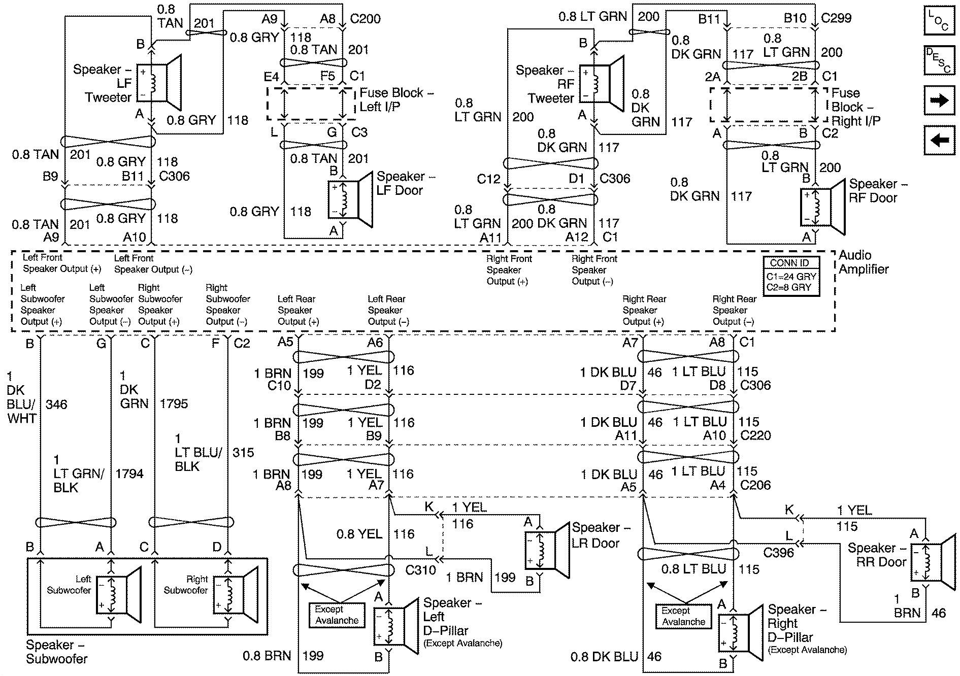 chevy avalanche radio wiring diagram