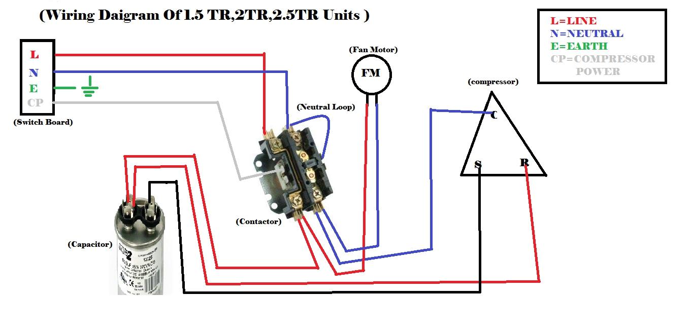 ac contactor circuit diagram wiring diagram sample hvac contactor wiring schematic