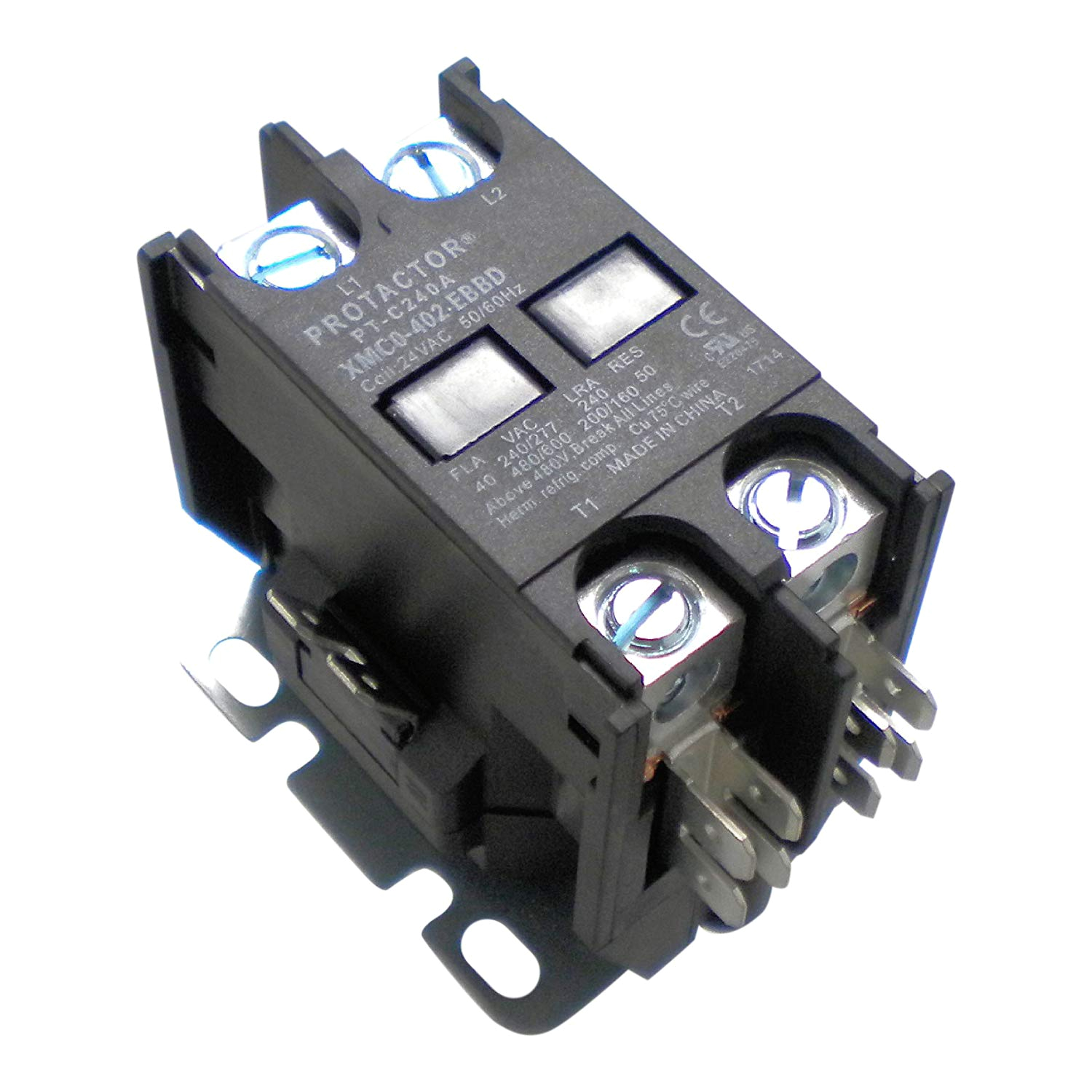protactor 2 pole 40 amp heavy duty ac contactor replaces virtually all residential 2 pole models amazon com