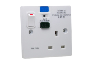 uk british united kingdom 13 ampere 240 volt 50hz gfci rcd