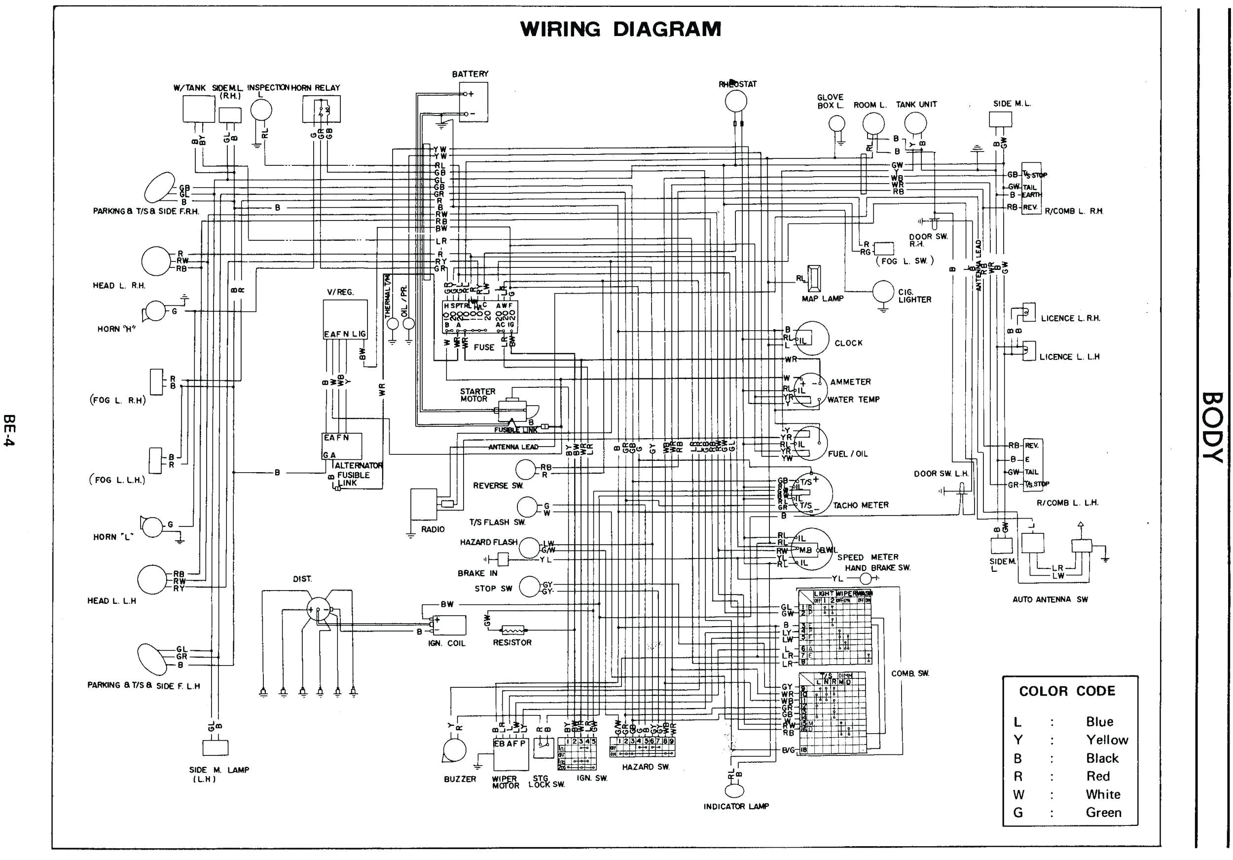 280z Wiring Diagram 260z Fuse Box Wiring Diagram