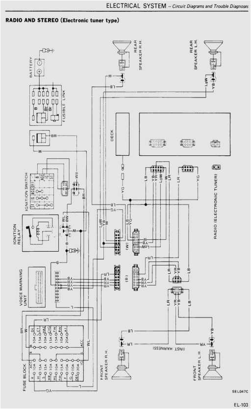 280z wiring harness diagram