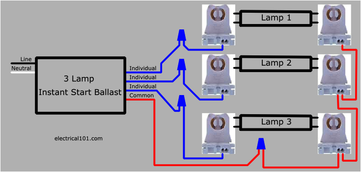 how to replace 3 lamp parallel ballasts electrical 101 3 lamp 2 ballast wiring diagram 3 lamp ballast wiring diagram