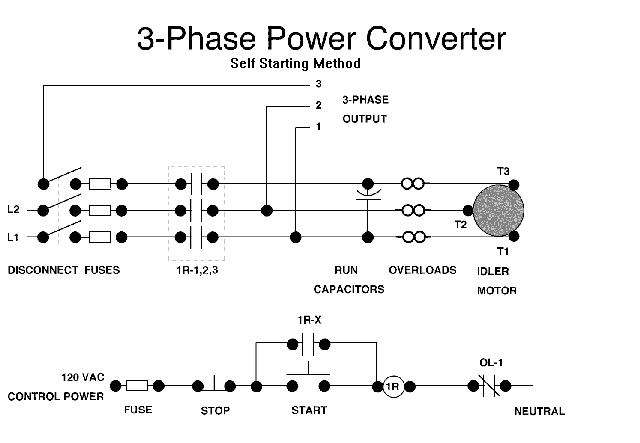 self starting phase converter