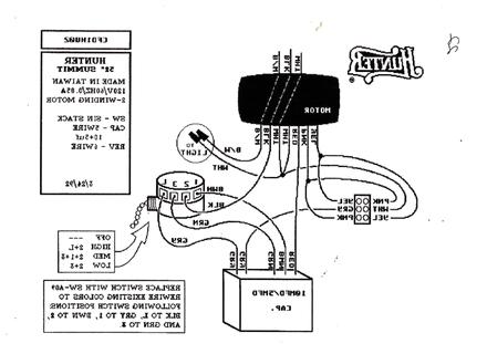 hunter ceiling fan 4 speed hunter 3 speed fan switch wiring diagram