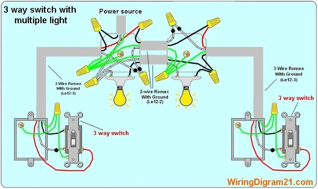 wiring multiple schematics to 3 wire switch wiring diagram list3 way switch wiring diagram multiple circuits