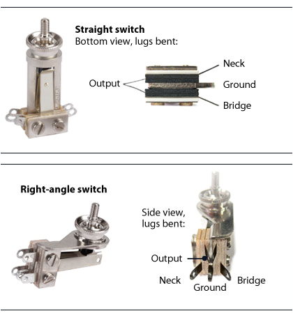 switchcraft 3 way toggle switch stewmac com how to wire a 3 way guitar toggle switch wiring 3 way guitar toggle switch