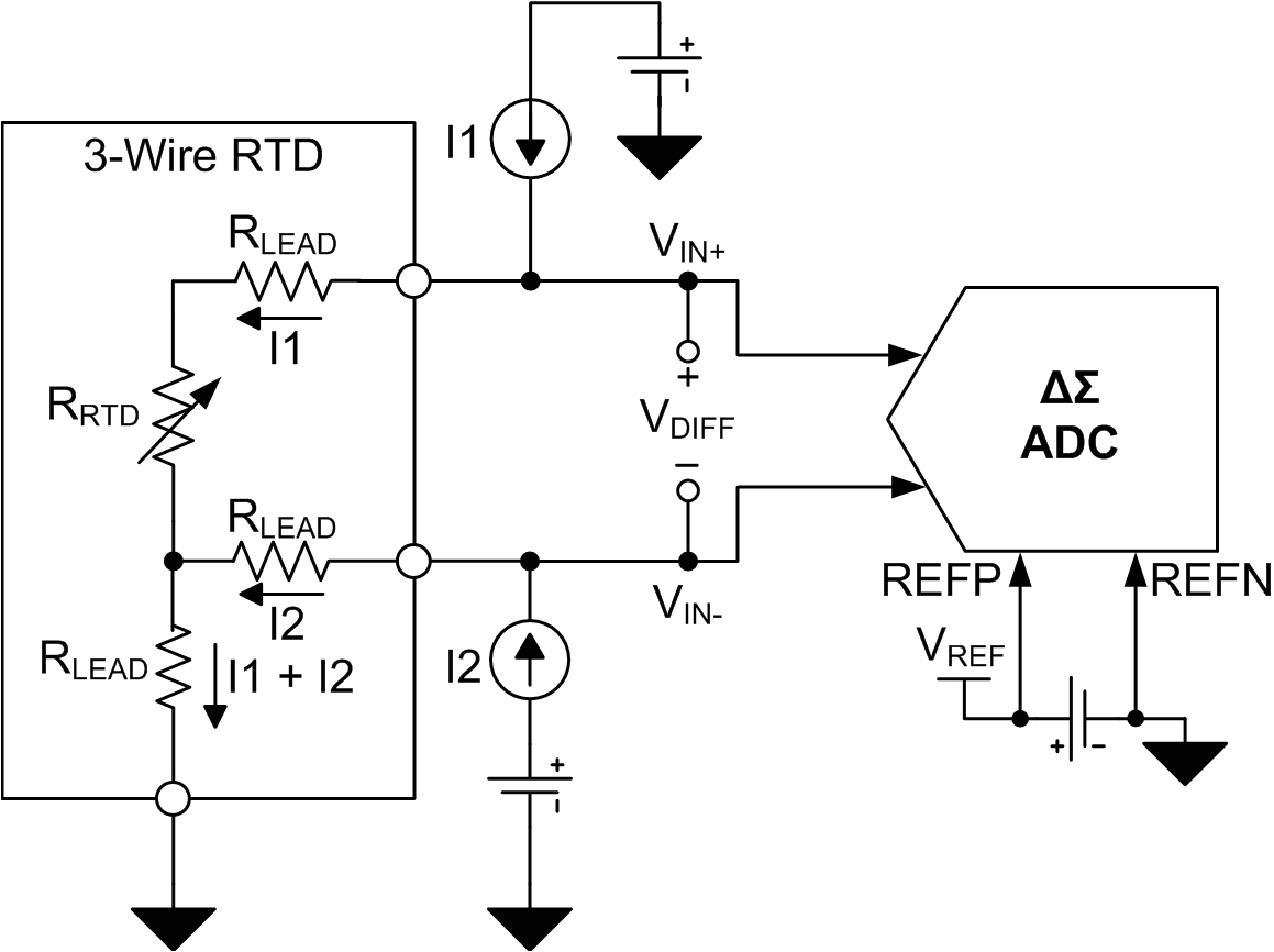 figure 3 three wire rtd circuit with external reference