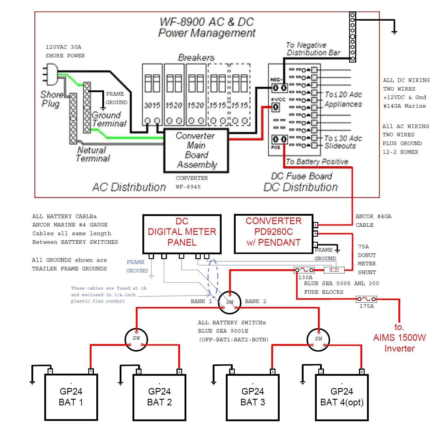 30 Amp Transfer Switch Wiring Diagram 30 Amp Rv Converter Wiring Diagram Wiring Diagram Page