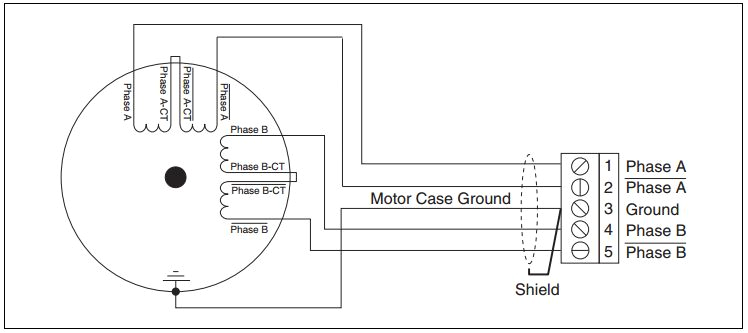 figure 3 8 wire stepper motor series configuration