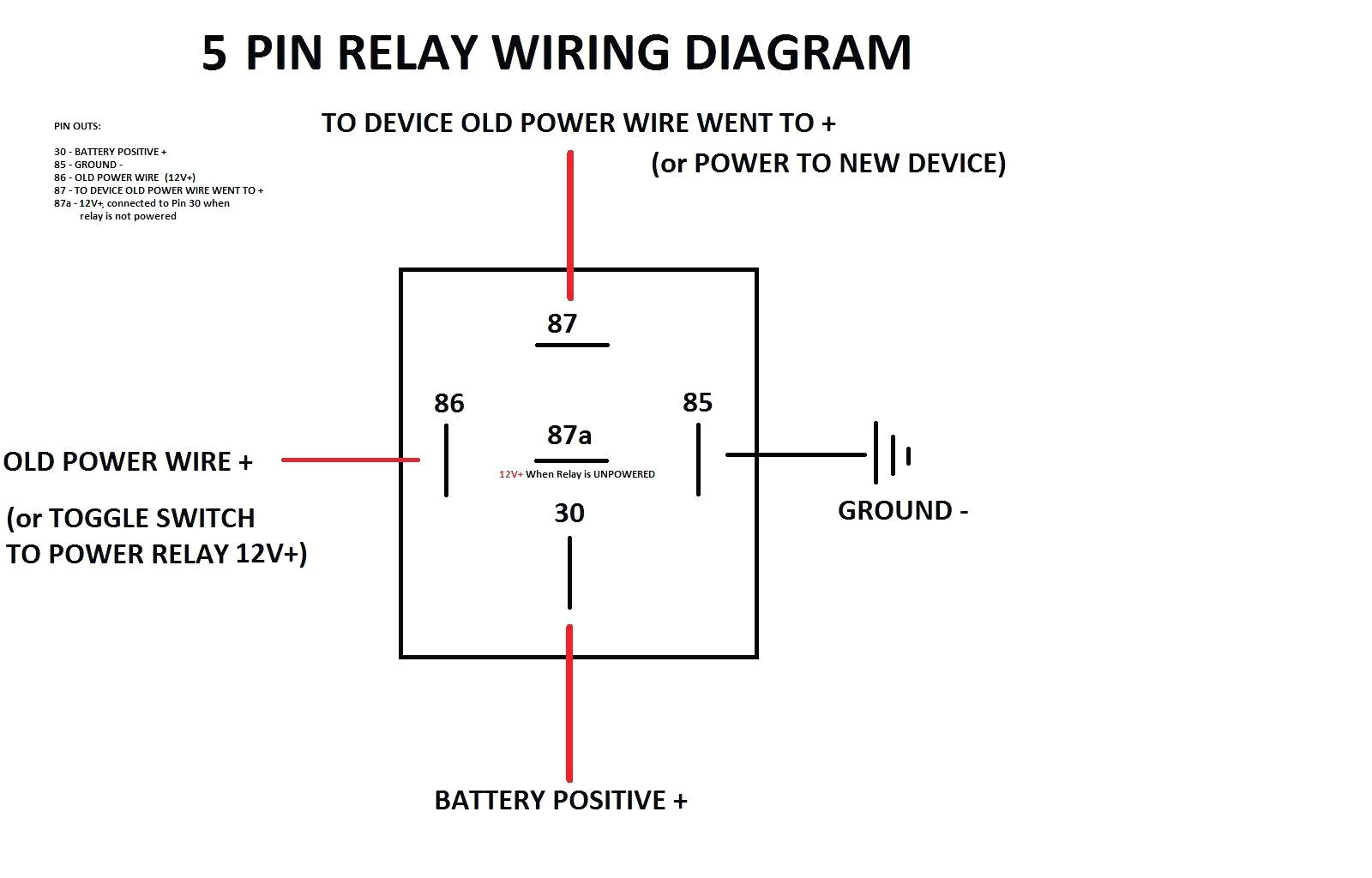 5 Prong Relay Wiring Diagram Wiring Diagram for Automotive Relay Wiring Diagram Mega
