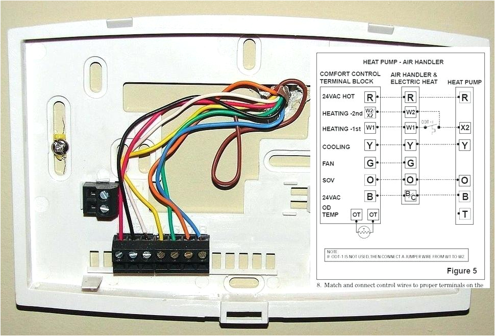 5 Wire thermostat Wiring Diagram Wiring Diagram Likewise Wiring A Honeywell thermostat Electric Heat