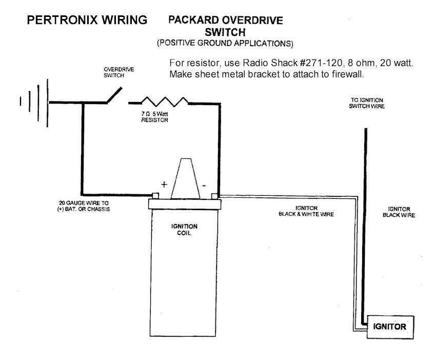i got a 6 volt positive ground unit from bill cathcart for the champ 6 engine pertronix sent me a wiring diagram
