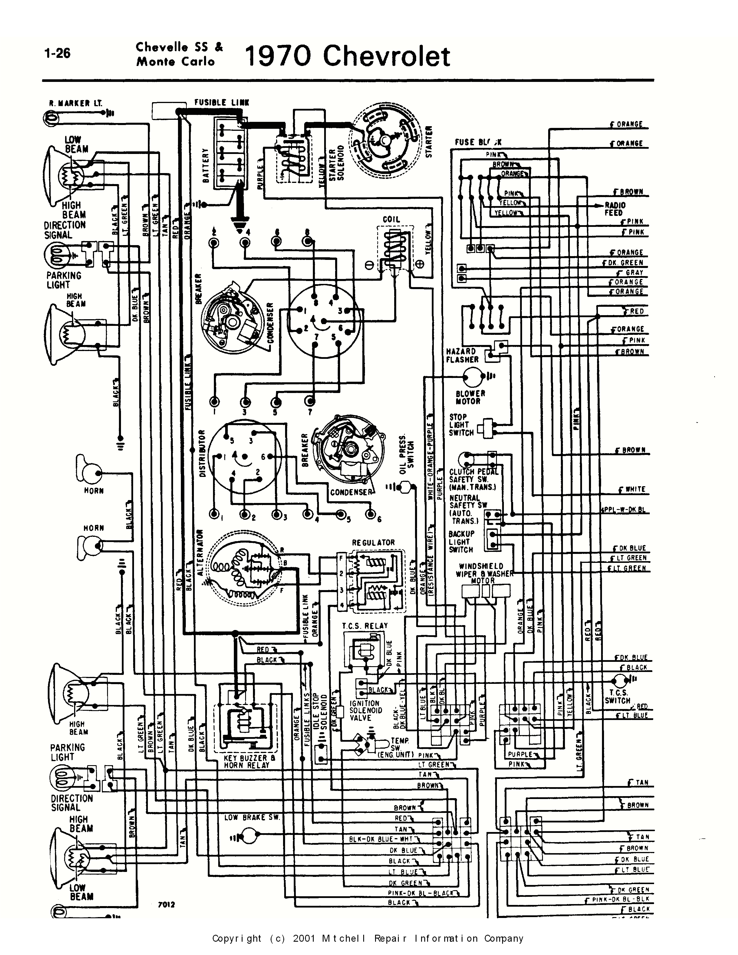 69 Chevelle Wiring Diagram 1970 Chevelle Wiring Harness Diagram Wiring Diagram Repair Guides