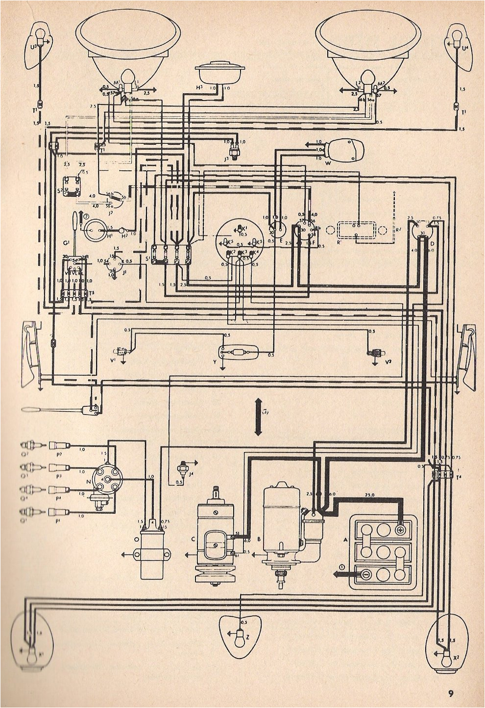 1974 vw beetle wiring diagram 275477 jpg