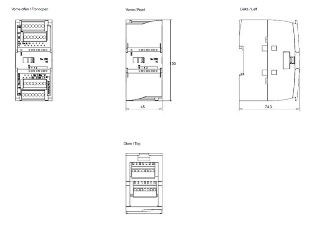 modua rozszerzea 4we analogowe 10v dc 0 20ma simatic s7 1200 6es7232 4hd32 0xb0 siemens