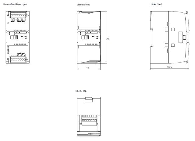 modua rozszerzea 4we analogowe 10v dc 20ma simatic s7 1200 6es7231 4hd32 0xb0 siemens