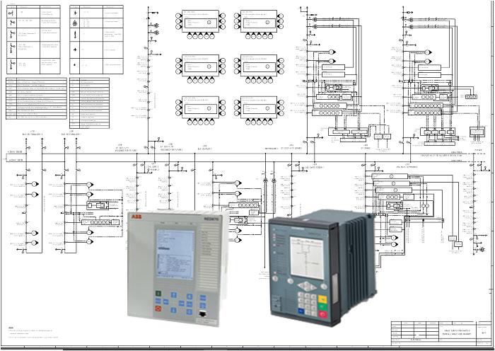 400kv substation overall single line diagram