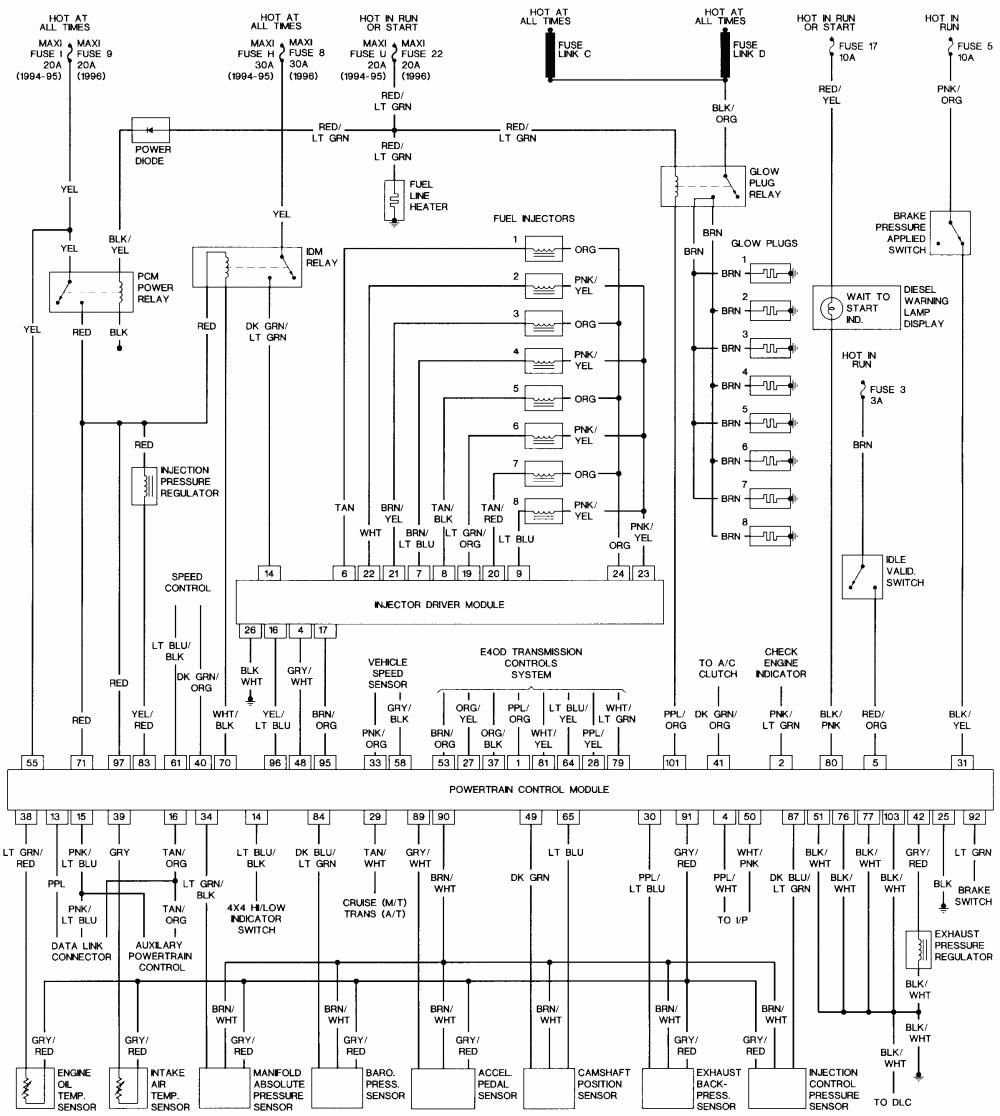 1996 ford 7 3 powerstroke wiring wiring diagrams long 1996 ford f350 7 3 diesel wiring diagram