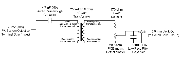 audio streaming interface circuit schematic diagram