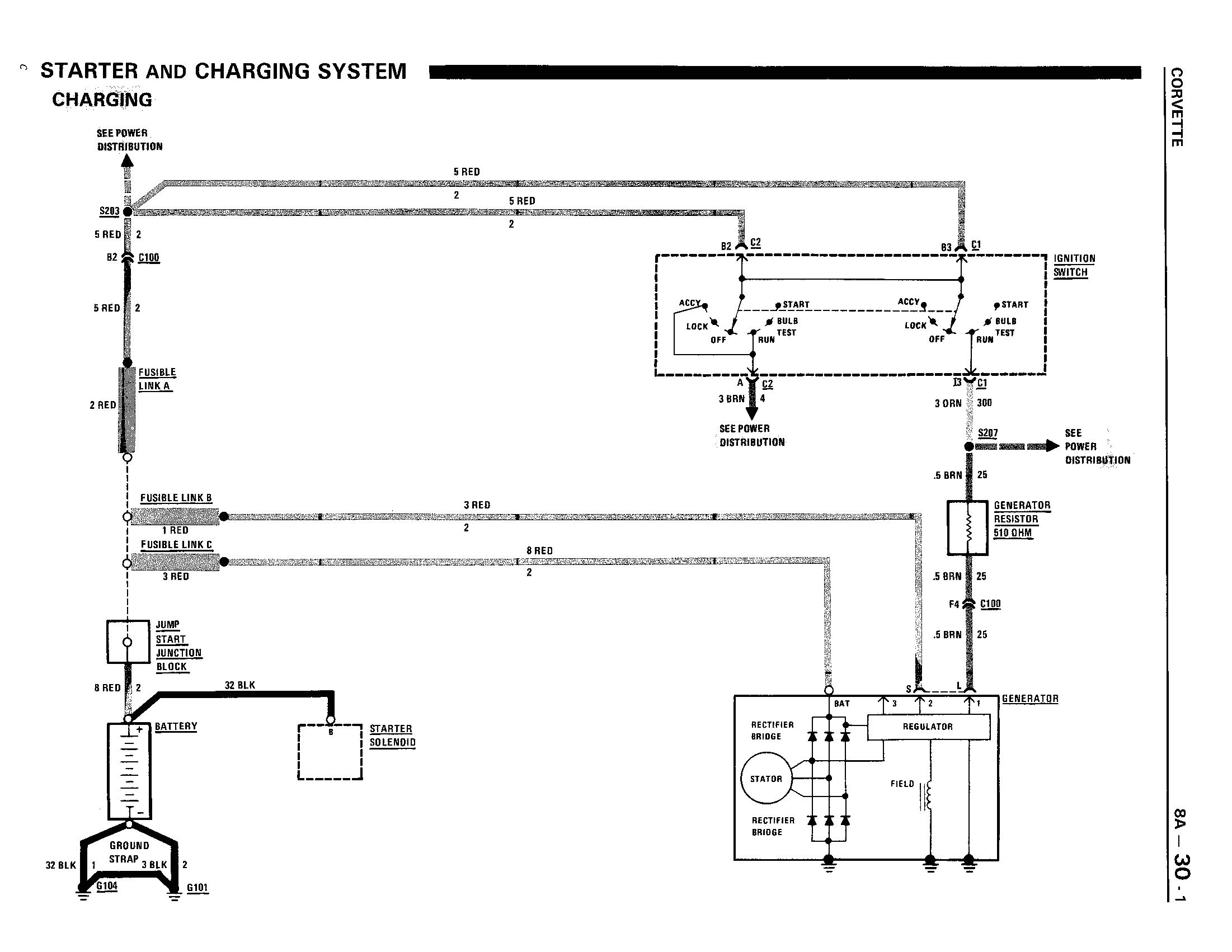 1991 corvette wiring diagrams