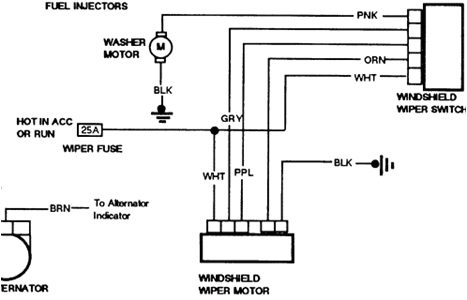 gm wiper wiring diagram