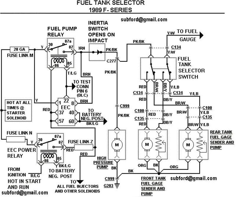 89 ford F150 Fuel Pump Wiring Diagram 1989 ford F 150 Fuel System Diagram 2 Tanks Wiring Diagram Expert