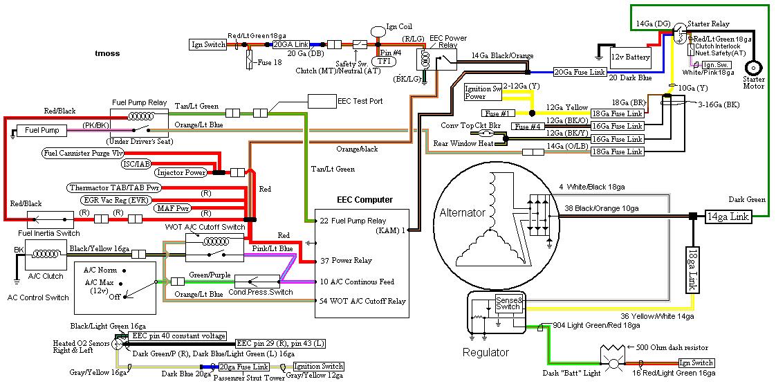 1991 mustang wiring diagram wiring diagram name 1991 mustang alternator wiring diagram 1991 mustang alternator wiring schematic
