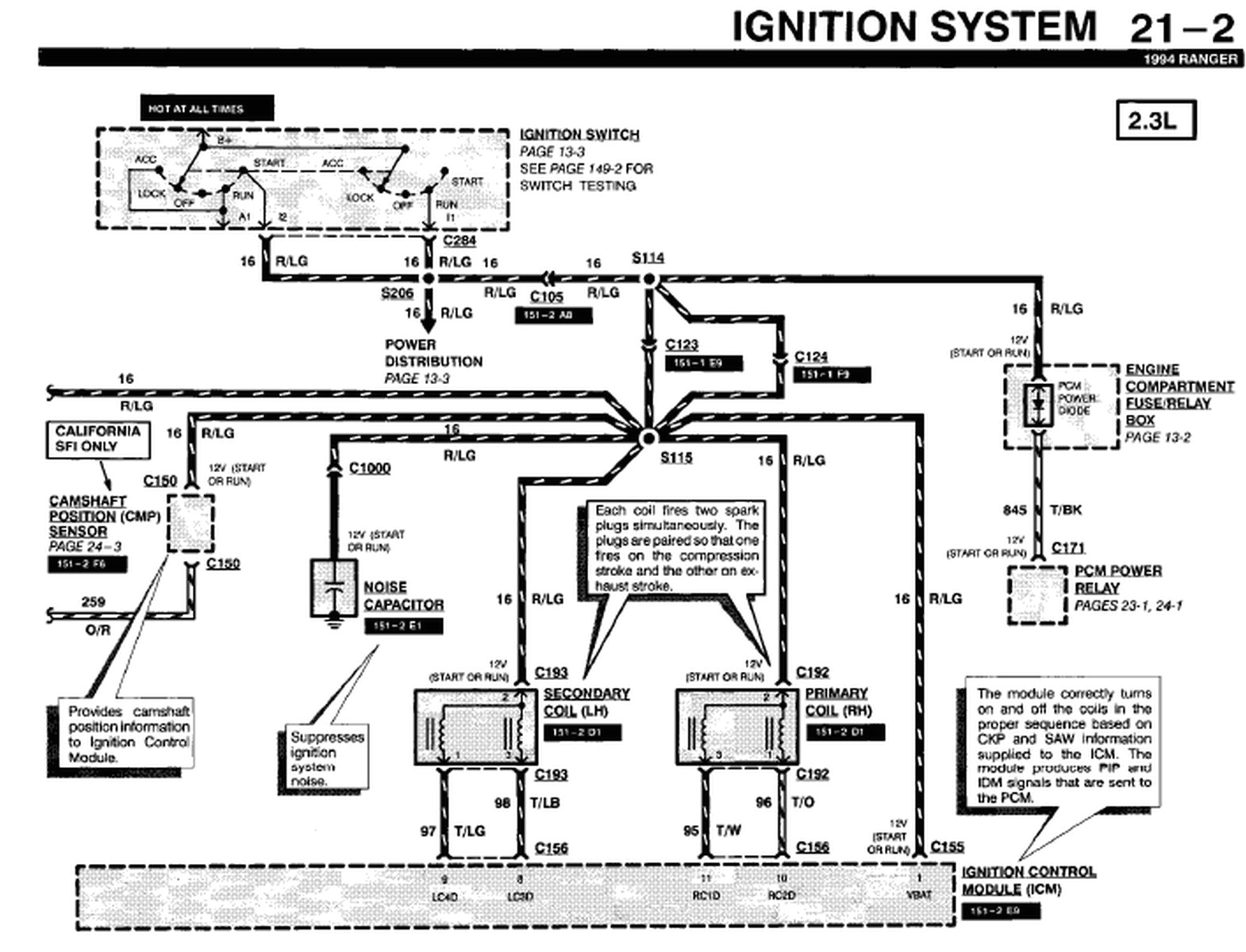 1994 ford ranger i locate a diagram for the electrical wiring system 1994 ford ranger electrical wiring diagram 1994 ford ranger electrical wiring diagram