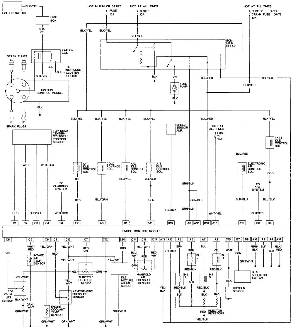 repair guides wiring diagrams wiring diagrams autozone com 94 accord ex engine wiring diagram 94 accord ex wiring diagram