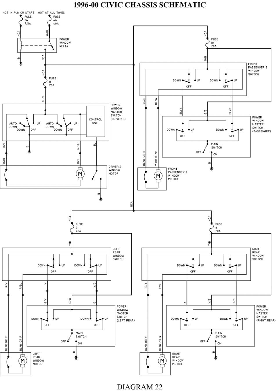 honda civic power window wiring diagrams wiring diagram blog renault megane window switch wiring diagram