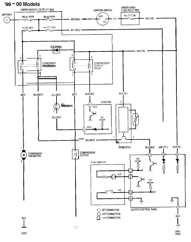 1999 honda civic ignition switch wiring diagram wiring diagram expert